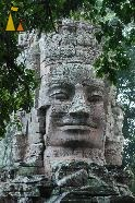 Faces, Angkor, Cambodia, faces, West gate, Angkor