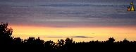 Forest summer sunset, Landet, Sweden, sunset, panorama, forest silhouette