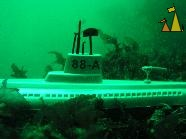 Submarine, Narvik, Norway, underwater, green, submarine, wreck